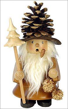 Pinecone Man Incense Burner
