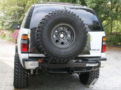 Check Out The Hitch Gate From Tire Gate As We Install The Full Size Spare Tire Carrier On A Chevy Tahoe See How Eas Chevy Tahoe Chevrolet Tahoe Chevy Suburban