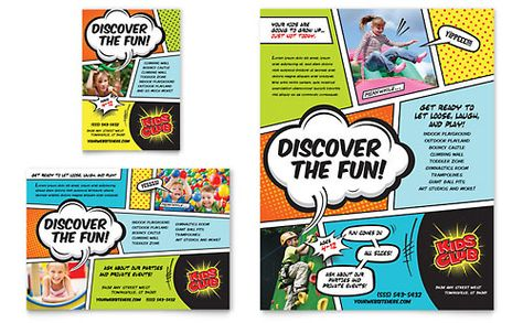 Kids Club Flyer \ Ad Template Design StockLayouts Inspiring - daycare flyer