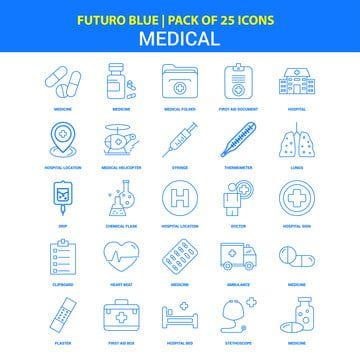 أيقونات طبية فوتورو أزرق 25 أيقونة حزمة أيقونات طبية الرموز الزرقاء سياره اسعاف Png والمتجهات للتحميل مجانا In 2020 Medical Icon Hospital Icon Icon