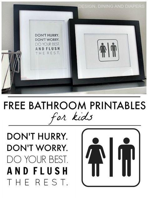 Free Bathroom Printables Taryn Whiteaker Bathroom Printables Free Bathroom Printables Bathroom Signs