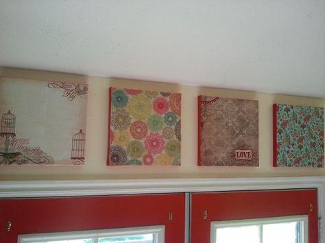 DIY picture collage. #DIY picture collage #picture makeover #craft project #scrapbook paper