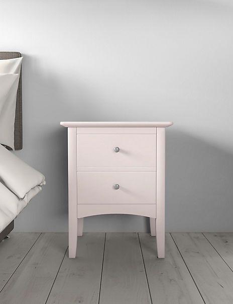 Hastings Powder Pink Bedside Table Pink Bedside Tables Bedside