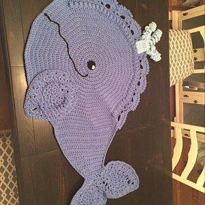 Crochet Pattern Joyce And Justin Whale Rug Nursery Mat Carpet Etsy In 2020 Crochet Patterns Crochet Pattern
