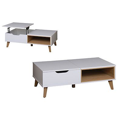 Table Basse Plateau Relevable Also Blanc Table Basse Table Basse Plateau Table Basse Pas Cher