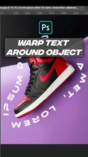 Warp text around object in photoshop