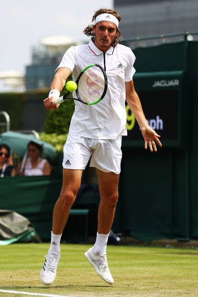 Stefanos Tsitsipas Photos Photos Day Four The Championships Wimbledon 2018 Lawn Tennis Tennis World Tennis Championships