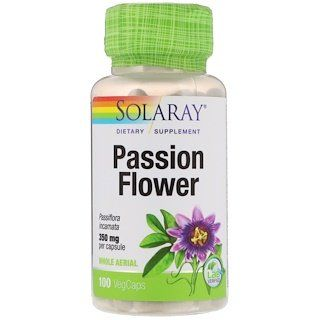 Solaray Passion Flower 350 Mg 100 Vegcaps Passion Flower Passiflora Climbing Vines