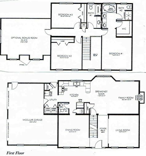 two story house plans | Future home in 2019 | Bedroom house ...