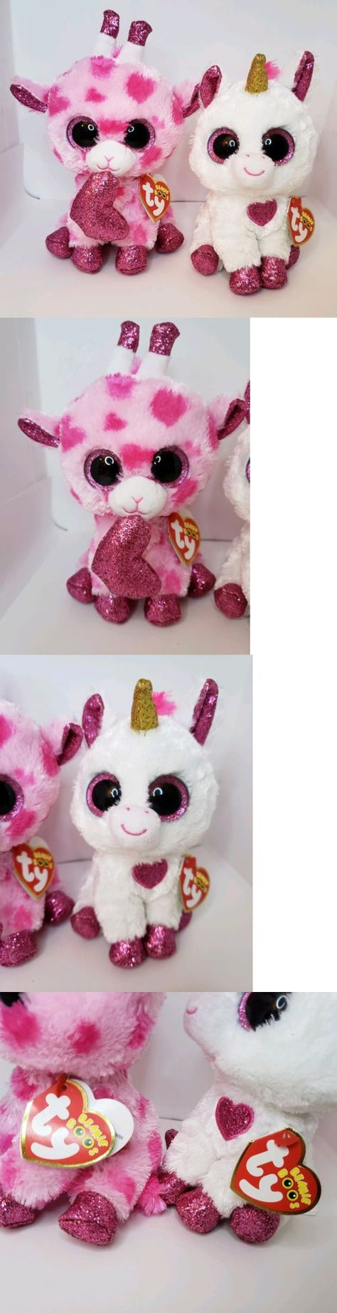 6bee9111465 Other Ty Beanbag Plush 1037  Ty Beanie Boos 2018 2019 Valentine S Lot  Cherie Unicorn Sweetums Giraffe 6 Mwmt -  BUY IT NOW ONLY   20.95 on  eBay   other ...