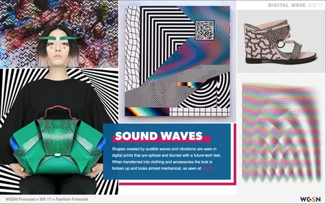 Print and Pattern - SOUND WAVES - creating shapes by audible waves and vibrations