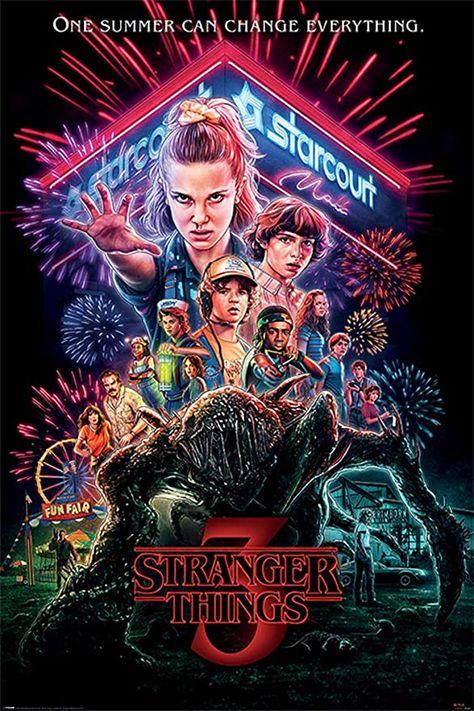 POSTER STOP ONLINE Stranger Things 3 - TV Show Poster (Season 3 - Summer of 85 - Regular Style) (Size 24 x 36