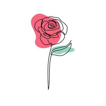 Nepreryvnoj Linii Chertezh Zakryvaetsya Cvetok Cvetushie Minimalistskogo Dizajna Vektor Illyustraciya Roza Klipart Simvol Bolvan Png I Vektor Png Dlya Besplatnoj Z Line Art Flowers Line Art Drawings Rose Line Art