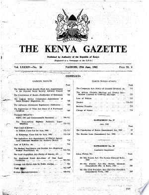 Kenya Gazette Pdf Download In 2020 False Book Public