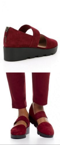 1f732c85633 Eileen-Fisher-Marlow-Bordo-Burgundy-Suede-Mary-Jane-Wedge-Shoes -6-6-5-7-5-9-5