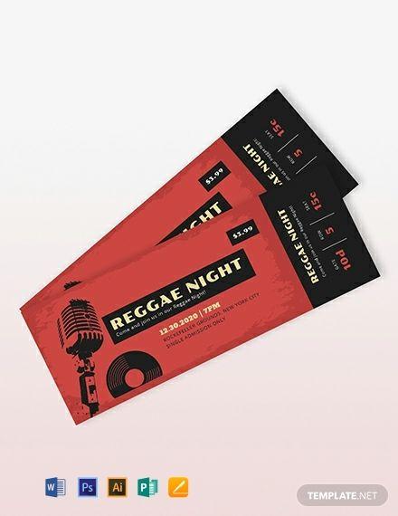 Free Printable Concert Ticket