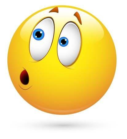 Smiley Vector Illustration Surprised Funny Emoji Faces Smiley Emoticon