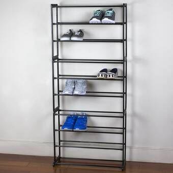10 Tier 50 Pair Shoe Rack In 2020 Shoe Rack Wayfair Bench With Shoe Storage 50 Pair Shoe Rack