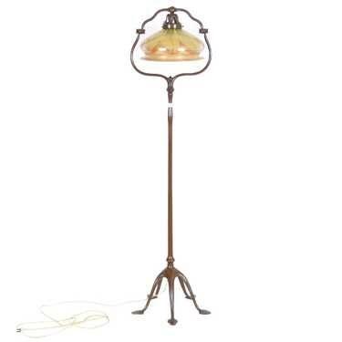 Original Tiffany Harp Floor Lamp 57 5 X 14 5 Floor Lamp Floor