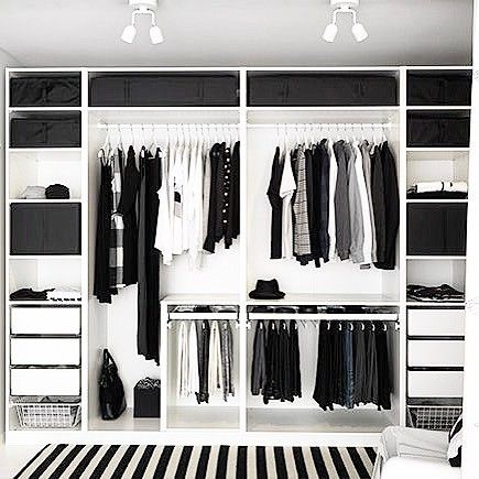I would love a wall unit closet in my guest room or something in the bedroom that wraps around my side of the bed and Bill would have similar.