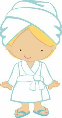 at the spa dibujos infantiles pinterest spa clip art and free rh pinterest com little girl spa clipart free spa party clipart free
