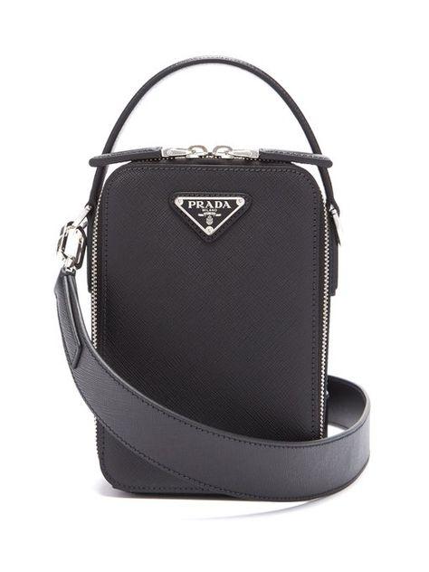 b9f7f679e2 Prada Brique leather cross-body bag