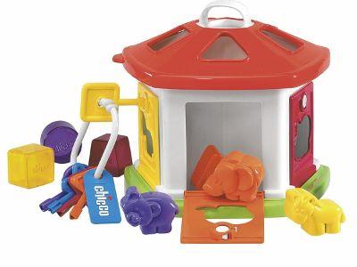 Chicco Cottage degli Animali: ogni colore una porta e una chiave!  Il più tradizionale gioco ad incastri.
