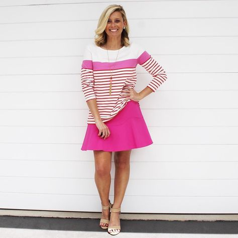 stripes The striped tee is the...