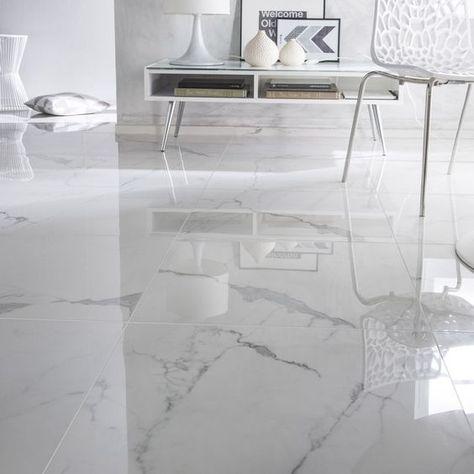 Carrelage Sol Et Mur Blanc Effet Marbre Rimini L 60 X L 60 Cm En