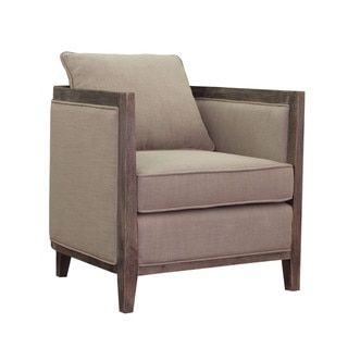 Elliot Beige Linen Lounge Chair - 15430080 - Overstock.com Shopping - Great Deals on I Love Living Living Room Chairs