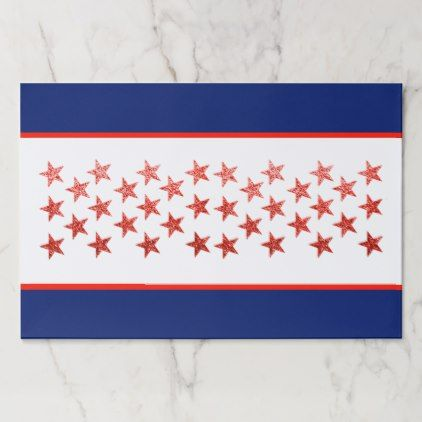 Red White Blue Flag Stars Arrows 4th Of July Paper Placemat Red And White Placemats Red White Blue