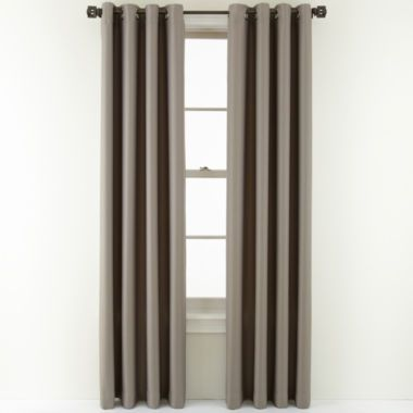 Living Room Soft Platinum Studio Alton Grommet Top Curtain Panel