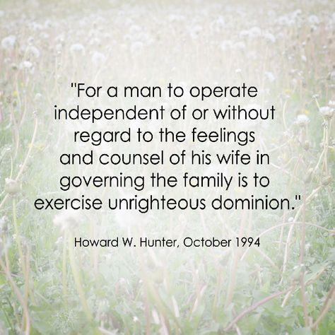 LDS Marriage Quote | Howard W. Hunter http://sprinklesonmyicecream.blogspot.com/