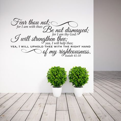 Isaiah 41:10 scripture wall decal | Divine Walls