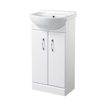 Wickes White Gloss Vanity Unit 455mm Wickes Co Uk Vanity Units Cloakroom Vanity Unit Vanity