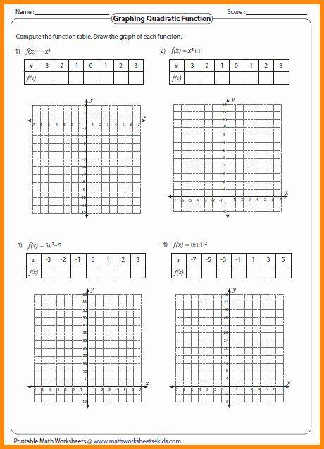From Linear To Quadratic Worksheet Fresh Graphing Quadratic Functions Worksheet Quadratics Worksheets Anger Management Worksheets