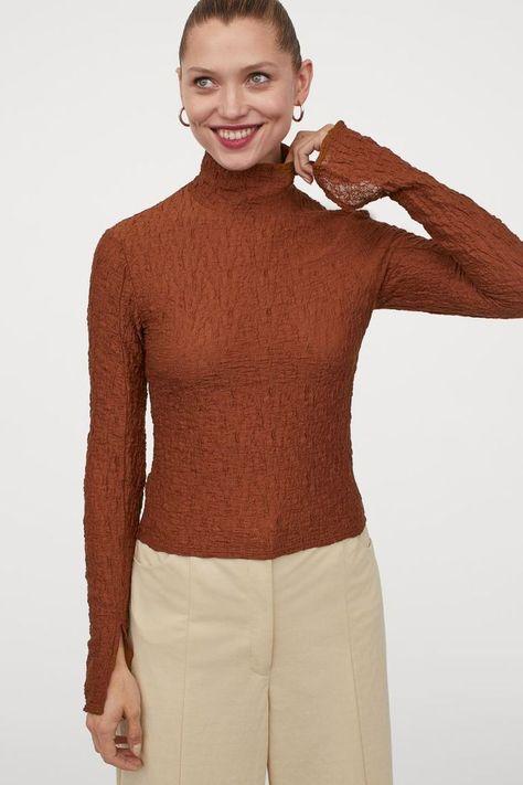 HM Long-Sleeved Turtleneck Top