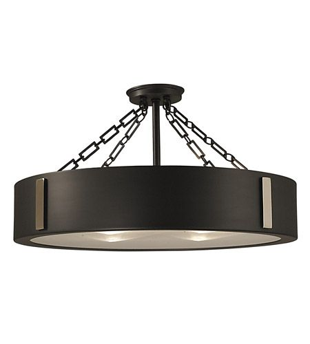 Framburg 2416ch Pn Oracle 4 Light 23 Inch Charcoal With Polished