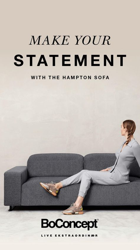 The Hampton sofa - luxury design by BoConcept