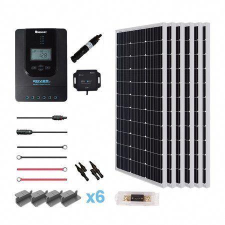 Renogy 600 Watt 24 Volt Solar Premium Kit With Monocrystalline Solar Panel And 40a Mppt Rover Controller Walmart Com In 2020 Solar Energy Panels Solar Panels Solar Panel System