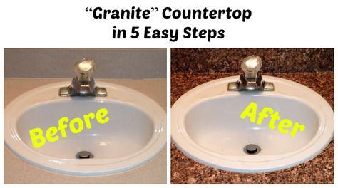 U201cGraniteu201d Countertop In 5 Easy Steps | For The Home | Pinterest | Hostal,  Camas Y Reciclado