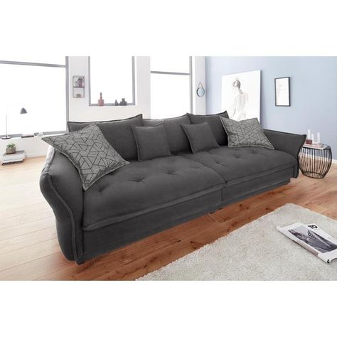 Inosign Big Sofa Palladio Grau Samt Fsc Zertifiziert In 2020 Sofa Grau Farbe Grau