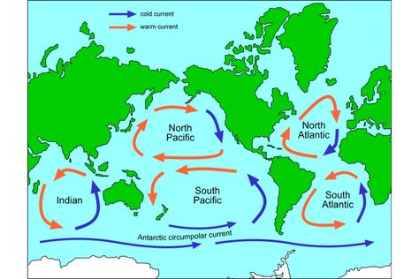 Ocean Currents Ocean current, Free maps and Ocean - copy world map with ocean trenches