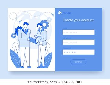 Modern Cartoon Flat People Characters Business Talking Concept Scene Ready To Use For Mobile App Sign Up Create Account Inte Social Web Cartoon Cartoon Network
