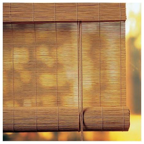 store enrouleur bambou chocolat l60