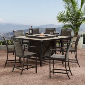fire pit dining set patio dining set