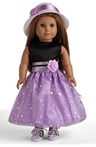 Purple With Black Designs 18 Doll Shorts