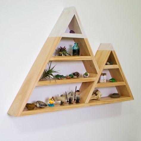 Diy Etagere Triangle Blog Deco Moveis De Pinus Nichos E