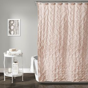 Pink Blush Lake Como Shower Curtain Yellow Shower Curtains Pink