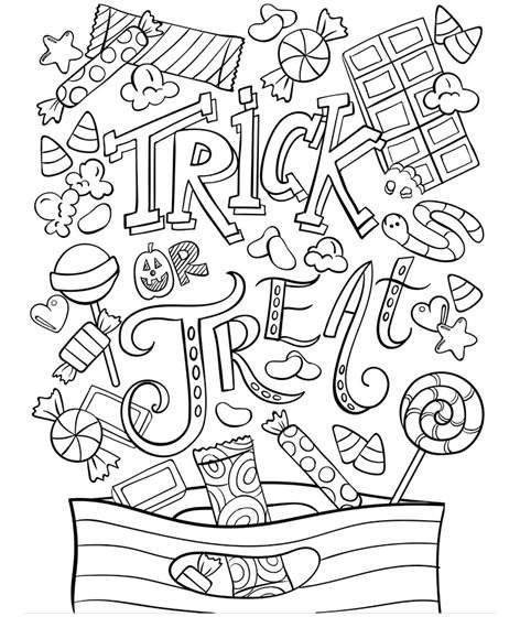 Trick Or Treat Free Halloween Coloring Pages Halloween Coloring Pages Halloween Coloring Sheets